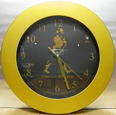 Johnnie Walker Black Label Clock, Black and Gold - Collector's Clock