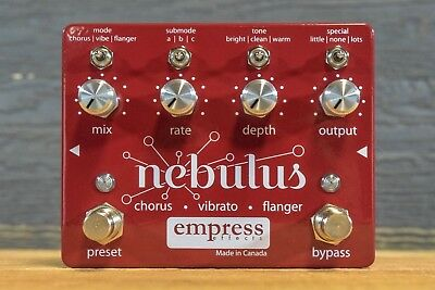 Empress Effects Nebulus Chorus / Vibrato / Flanger Electric Guitar Effect Pedal