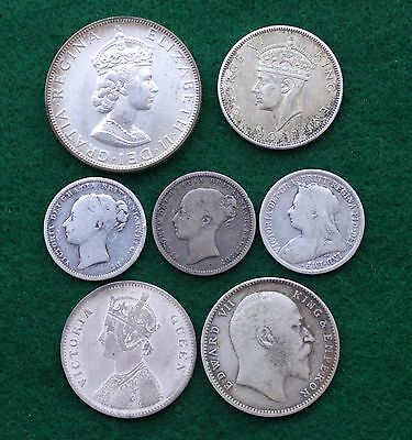 Silver Coins of the UK and British Empire, 57.5 Gr or 1.85 Troy Oz Fine Silver