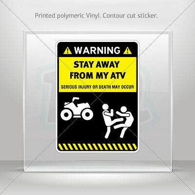 "Satanic Cult Funny Warning Sign Stickers Set of 2 Decals 4/"" wide WS287"