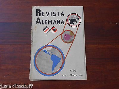 RARE German ww2 magazine ISSUED IN URUGUAY March 1934 INCREDIBLE MATERIAL