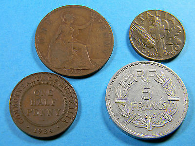 (4) Old Coin Lot