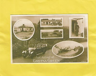JUST  ARRIVED  at  GRETNA  GREEN    ,  DUMFRIES ,  BORDERS  , SCOTLAND  ( 57A )