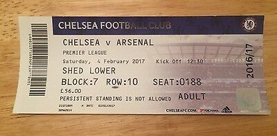 Chelsea v Arsenal Match Ticket -Premier League 4th February 2017