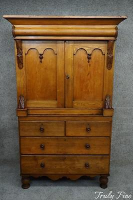 Period Linen Press Antique Armoire Chest of Drawers Wardrobe Dresser Pantry