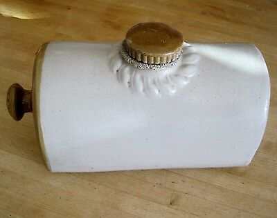 Old stoneware hot water bottle/ bed warmer