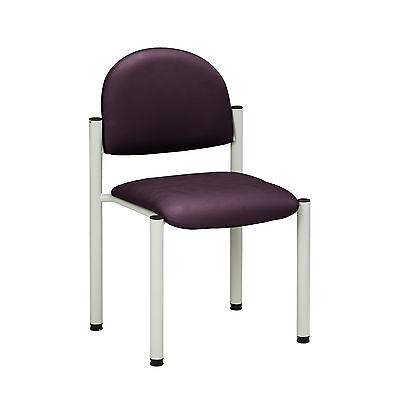 Gray Frame Chair with no arms-PurpleGray  1 ea