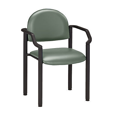 Black Frame Chair with arms-Soft Jade  1 ea