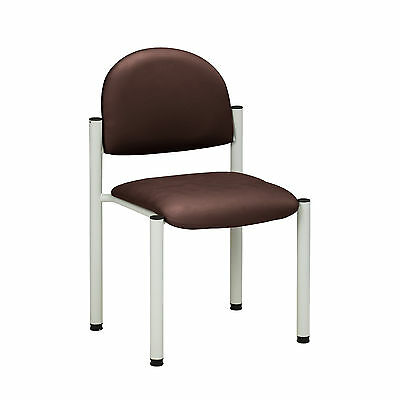 Gray Frame Chair with no arms-Burgundy  1 ea