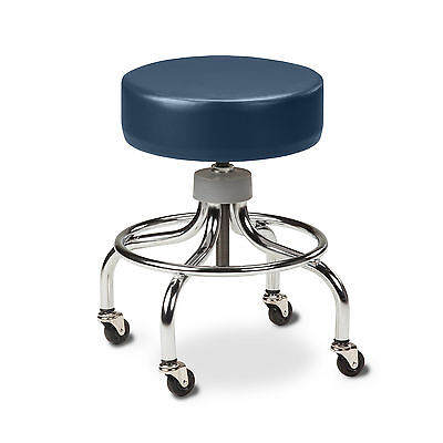 Chrome Base Stool with round foot ring-Royal Blue  1 ea