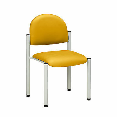 Gray Frame Chair with no arms-Yellow  1 ea