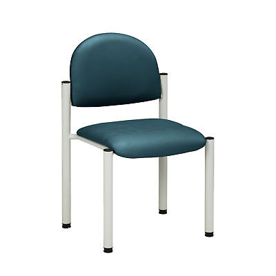 Gray Frame Chair with no arms-Slate Blue  1 ea