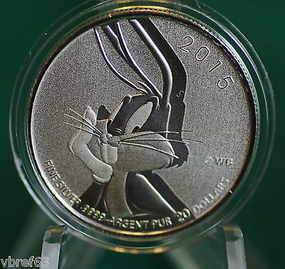 2015 CANADA $20 for $20 Bugs Bunny Looney Tunes coin  - #17 in series