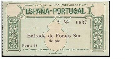 MEGA RARE Spain v Portugal: World Cup 1950 play-off: 1st leg, Madrid