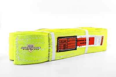 EE2-903 X10FT Nylon Lifting Sling Strap 3 Inch 2 Ply 10 Foot USA Package of 4