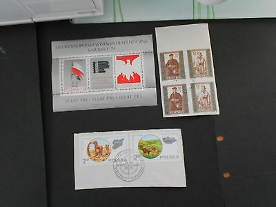 POLAND 2 Mini Sheets and 2 Stamps on Paper