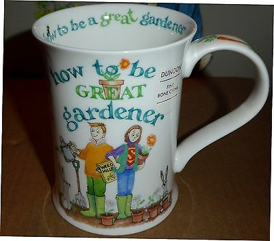 """Dunoon Mug """"How to be a Great Gardener""""~Cotswold Shape~Cherry Denman~NEW"""