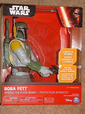Star Wars Boba Fett Interactive Room Guard Motion Activated Bounty Hunter New