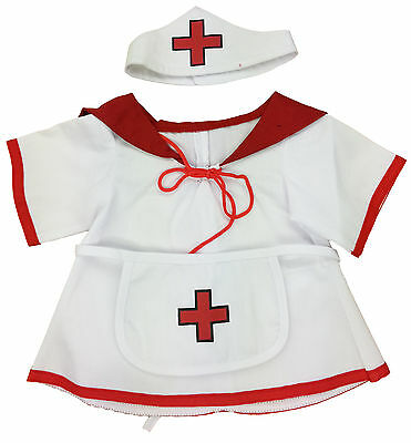 """Nurse Outfit Teddy Bear Clothes Fits Most 14""""-18"""" Build-A-Bear and More"""