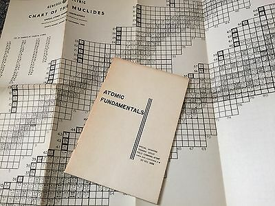 Vintage ATOMIC FUNDAMENTALS Booklet (1956) & Chart Of The Nuclides(1952)