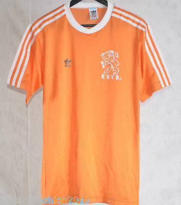 VINTAGE OLD ADIDAS HOLLAND CAMISETA  FOOTBALL TRIKOT 80s MADE IN WEST GERMANY