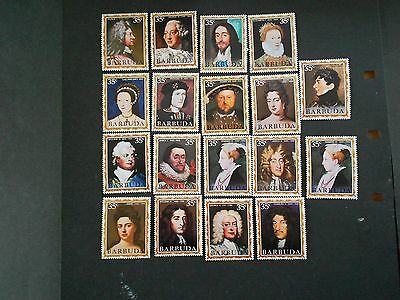 BARBUDA 18 Various Kings and Queens Mint Hinged Stamps