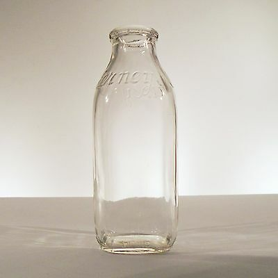 Vintage Alderney Glass Milk Bottle