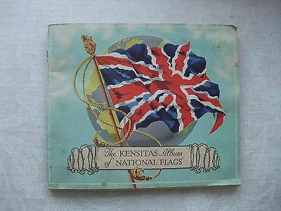 J WIX & SONS LTD - KENSITAS ALBUM OF NATIONAL FLAGS - partially completed album