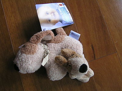 NEW NWT Carter's Dog Gone Cute Tan Brown Spotted Dog Plush Rattle + Wrist Rattle