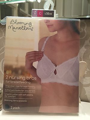 Mothercare Blooming Marvellous Maternity Breastfeeding Bras 36c Brand New