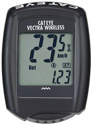 CatEye Vectra Wireless Cyclocomputer CC-VT100W (Black)  -- NEW