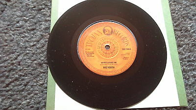 "Big Youth ""What's Going On"" Trojan Records Reggae Single"