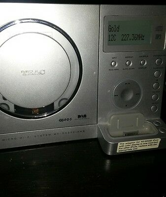 Teac CD player with subwoofer , 2speakers and a remote
