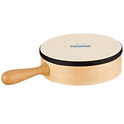 """Nino 8"""" Hand Drum with Handle Synthetic Head Natural 8 Inch"""
