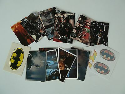 Collection of Batman Trading Cards / Stickers - Merlin & Topps as per photos