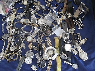 spectacular MIXED 80 PLUS WATCHES AND PARTS BANDS  PARTS REPAIR OR REPURPOSING.