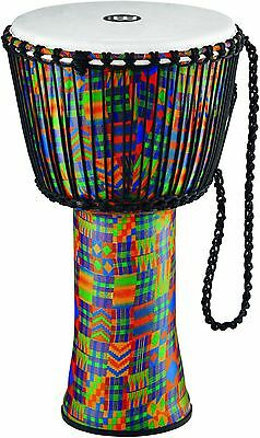 Meinl Rope Tuned Djembe with Synthetic Shell and Head 14 in. Kenyan Quilt