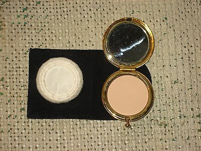 Estee Lauder Small Gold Tone Lucidity Powder Compact