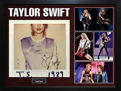 Taylor Swift Signed T.S. 1989 Album Cover Display Case AFTAL UACC RD COA