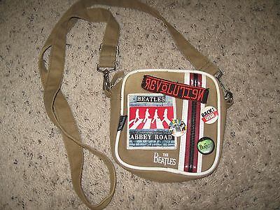 BEATLES ABBEY ROAD REVOLUTION small shoulder carry on bag OD Canvas APPLE 2008