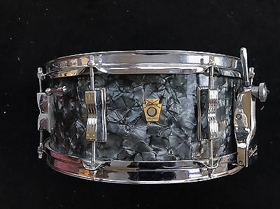Ludwig 60s Vintage Buddy Rich Super Classic Snare Drum All Original Black Pearl