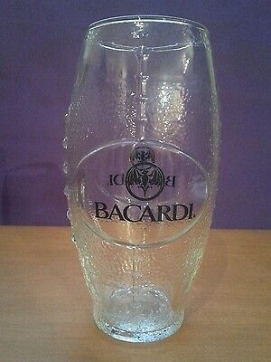 Bacardi Rum Football Shaped Glass Brand New! Collectible!