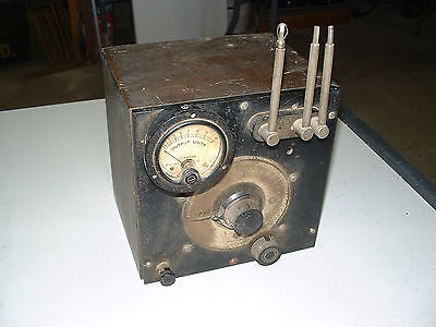 ANTIQUE RADIO TEST EQUIPMENT  dated 1924  possibly a FIELD STRENGTH METER