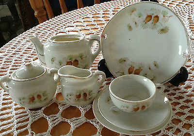 Miniature Tea Set and Wall Plate -Collectable