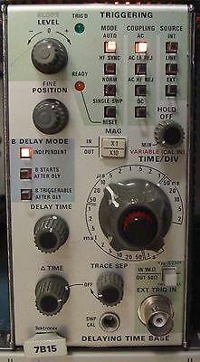 Tektronix 7B15 Delaying Time Base Plug In For 7000 Serier Scopes! Calibrated !