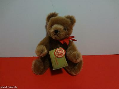 Hermann Cocoa Brown Teddy Bear Mohair Fully Tagged Made In West Germany 20Cm 8'
