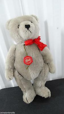 Hermann Mohair Grey Teddy Bear Red Tag Made In West Germany