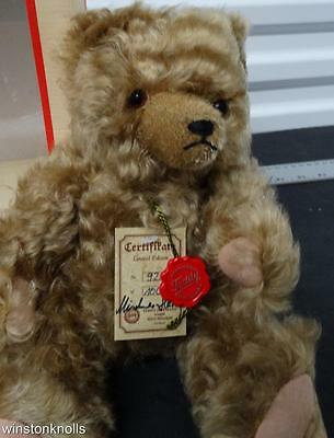 Hermann Mohair Teddy Bear D-8606 #92-100 Fully Tagged Made In Germany Mib Signed