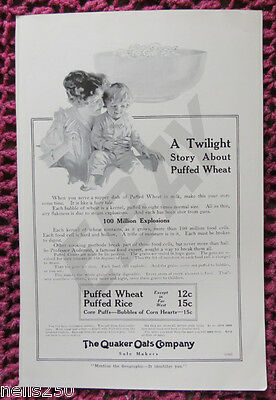 Original QUAKER OATS Magazine Ad - 1916 -  Food - Baby - Mother - Child