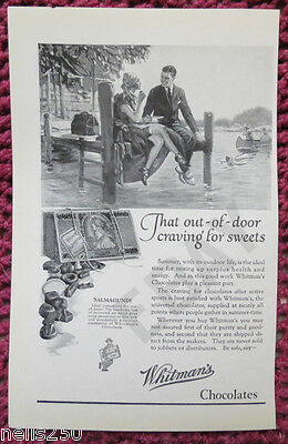 Original WHITMAN'S Magazine Ad - 1924 -  Chocolate - Candy